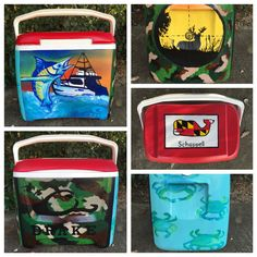 Painted cooler: Fishing & Hunting Cooler
