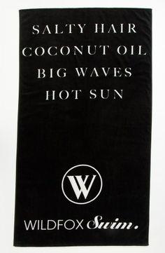 Wildfox Salty Hair Swim Towel, $78.