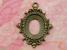 Bronze Cabochon Settings suit 13 x 18mm cabochon, available at OLGA