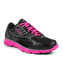 Look at this #zulilyfind! Black & Hot Pink 816 Sneaker - Women by FILA #zulilyfinds