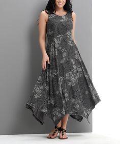 Handkerchief maxi dress