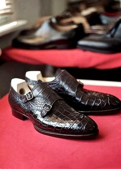 Mens Alligator Dress Shoes Monk Strap Buckle Loafers Slip on Oxford Shoes Double Monk Strap Shoes, Men's Shoes, Dress Shoes, Sneaker Boots, Luxury Shoes, Loafers Men, Leather Men, Oxford Shoes, Shoe Game
