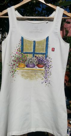 Hand painted T-shirt   Women T-shirt  100% original by AxiKedi