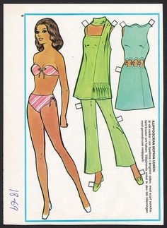 Swedish paper doll of Sophia Loren / eBay