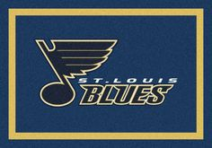What's team spirit if your rug doesn't say it out aloud? Check out the St.Louis Blues Rug from Busenbark!
