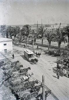 Paseo y muelle. 1909. Archivo Ayuntamiento. Colección: FRANCISCO SÁNCHEZ