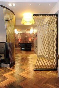 Metal Room Divider Screen – Foter - Home Professional Decoration Metal Room Divider, Bamboo Room Divider, Living Room Divider, Room Divider Screen, Diy Room Divider, Divider Ideas, Curtain Divider, Room Screen, Curtain Door