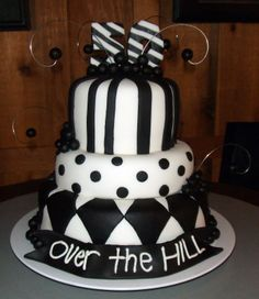 Cakes by Whitney: Over the Hill 50th Birthday Cakes For Men, 50th Cake, Adult Birthday Cakes, 60th Birthday, Birthday Ideas, Fancy Cakes, Cute Cakes, Beautiful Cakes, Amazing Cakes