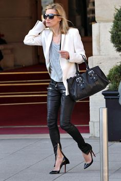Kate Moss, the trousers, the shoes