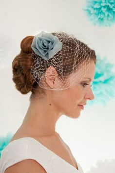 Items similar to Bridal headpiece, wedding hair accessories, fascinator with a rose in powder- blue silk organza, made by noni - mode on Etsy On Your Wedding Day, Fall Wedding, Dream Wedding, Wedding Stuff, Wedding Ideas, Headpiece Wedding, Bridal Headpieces, Fascinators For Short Hair, Pin Up