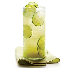Cucumber-Ginger Limeade | Try this cooler with gin, vodka, rum, or tequila. | #Recipes | SouthernLiving.com