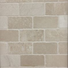 12in x 12in Chiaro Tumbled Natural Stone Mosaic Subway Wall Tile