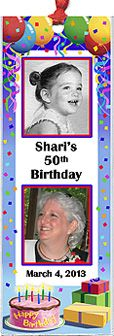 Photo Birthday Favors - These festive, custom bookmarks feature two of your favorite photos and personalization.  http://www.photo-party-favors.com/