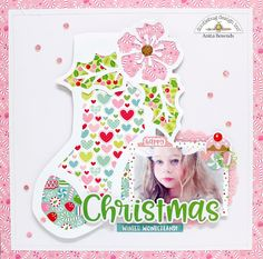 Doodlebug Design Inc Blog: Milk & Cookies Collection: Christmas Layout by Anita
