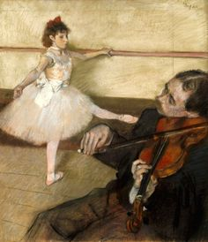Edgar Degas The Dance Lesson c. 1879  64.5 x 56.2 cm Pastel and black chalk on three pieces of wove paper, joined together