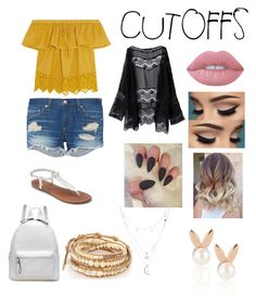 """""""Summer's day """" by hallie-bray on Polyvore featuring Madewell, rag & bone, Apt. 9, Lime Crime, Chan Luu, Aamaya by priyanka, Charlotte Russe, jeanshorts, denimshorts and cutoffs"""