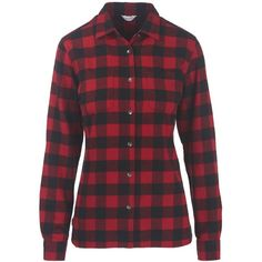 Women's Pemberton Flannel Shirt 100% Cotton ($20) ❤ liked on Polyvore featuring tops, cotton shirts, red top, woven cotton shirt, cotton flannel shirts and red shirt