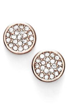 pave stud earrings / anne klein