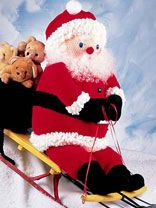 Jolly Santa - 3 feet tall - free pattern