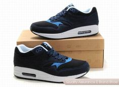 cheap for discount 565f0 26fe0 nike air max 1 mens black blue sneakers p 2262
