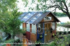 House Of Doors, Eco Shed from In Texas by the Lake #shedoftheyear Readersheds.co.uk