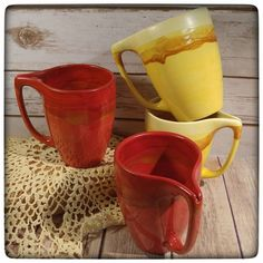 These lovely tea mugs - they have a slit at the top of the handle that you can slide your teabag string into to hold it - will be coming with me to the GLAM Craft Show this Sunday. Any that don't sell will then be coming to Big Bang Bazaar with me on Saturday the 17th!