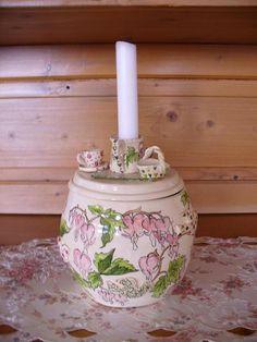 Deckel mit Kerze  von Christl Vogl