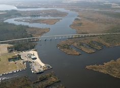 Pungo ferry bridge. Went boating and jet skiing all summer right here.