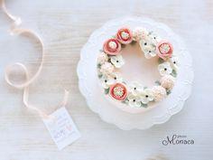 Korean Buttercream Flower, Buttercream Flower Cake, Flower Cake Design, Cute Birthday Cakes, Dessert Decoration, Rose Cake, Cake Decorating Tutorials, Floral Cake, Fancy Cakes