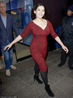 Curvaceous cook: Nigella Lawson was seen arriving at Good Morning America in New York City...