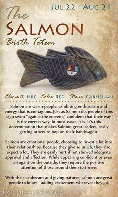 Salmon Birth Totem