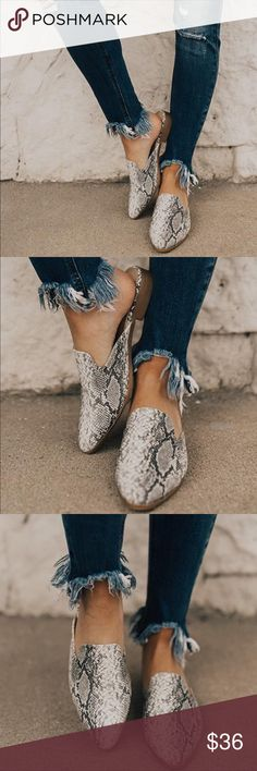 44a0c91671ac Animal Snake skin print Mules These snakeskin mule slides are just too good  to pass