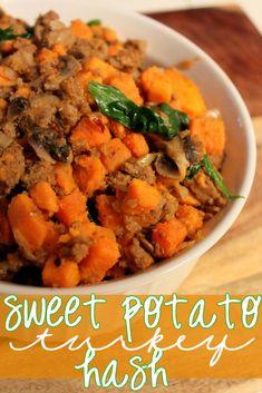 Sweet Potato Turkey Hash