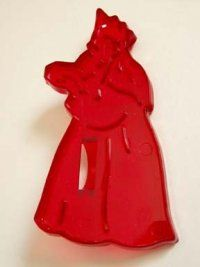 """HRM Wiseman with Gifts Cookie Cutter  $4.99 Material - Hard Plastic   Color - Red   Size - 3 3/4"""" x 2""""     please note from time to time a cutter may have a spot on them where they were removed from the plastic mold by the factory who makes them. This in no way deflects from the appearance or it's ability to give you an outstanding cookie design. ORDER AT http://www.cookiecuttersplus.com/content-product_info/product_id-1886/hrm_wiseman_with_gifts_cookie_cutter.html"""