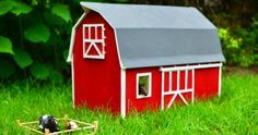 For our son's first birthday, we built him a toy wooden barn. Here are our DIY guidelines to anyone who feels inspired to build a handmade toy barn.