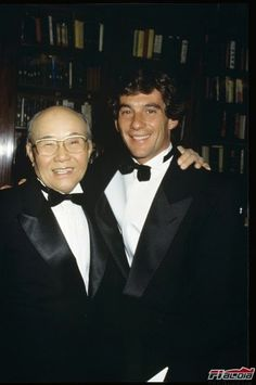 Soichiro Honda e Ayrton Senna