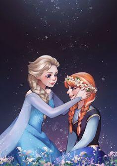 Frozen - Queen Elsa x Princess Anna Princesa Disney Frozen, Disney Princess Frozen, Frozen Movie, Disney Princess Pictures, Ana Frozen, Frozen Queen, Princess Anna, Disney Films, Disney And Dreamworks