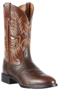 Ariat® Heritage Stockman™ Men s Washed Brown Vintage Cedar Round Toe Western  Boots  a912a65fe13f