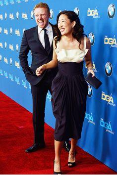 Kevin McKidd (Owen Hunt) & Sandra Oh (Cristina Yang). Crowen. Grey's Anatomy.