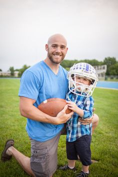 Father son Luther College, Decorah Iowa fall football photo shoot ideas.