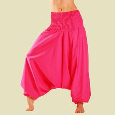 Clothing, Shoes & Accessories New Womens Hippy Pants Trousers Leggings Baba Harem Ali Plain Aladin Baggy More Discounts Surprises Women's Clothing