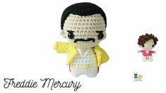 Canal crochet en Youtube ♥️ Fred Mercury, Free Crochet, Crochet Hats, Amigurumi Tutorial, Learn To Crochet, Harry Styles, Crochet Projects, Free Pattern, Crochet Patterns