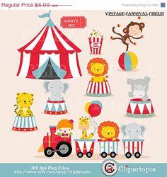 Vintage Carnival Circo Digital art / Animaleds de por ClipArtopia