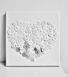 white heart wall art