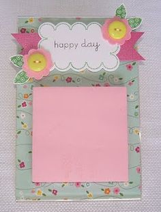 Post It Note Holder with an Acrylic Frame