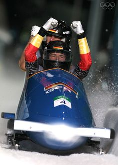 View striking Olympic Photos of Bobsleigh - see the best athletes, medal-winning performances and top Olympic Games moments. Olympic Winners, Bobsleigh, Bob S, Winter Games, Winter Sports, Olympic Games, Ice Skating, Vancouver, Olympics