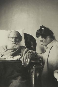 Leo Tolstoy with daughter Tatiana.