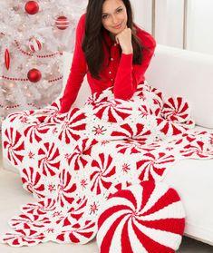 Peppermint Throw Crochet Pattern