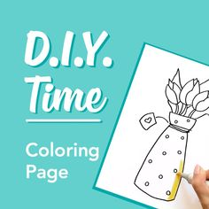 Want a fun new activity to try with the kids? Create your own D.I.Y. Coloring Pages follwing our easy steps! Draw -> Color -> and Enjoy!