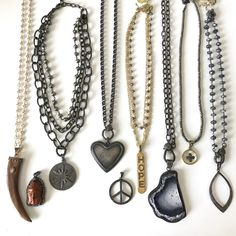 Assorted diamond accent necklaces. Email lisajilljewelry@gmail.com